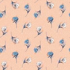 Полевые цветы на фоне с горошками